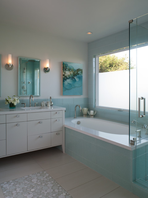 Tiburon Home transitional-bathroom