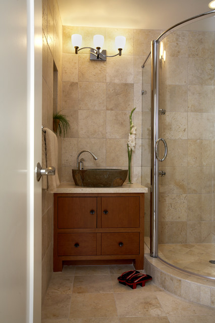Tiburon home with Asian influence - Asian - Bathroom - San Francisco - by Mahoney Architects & Interiors