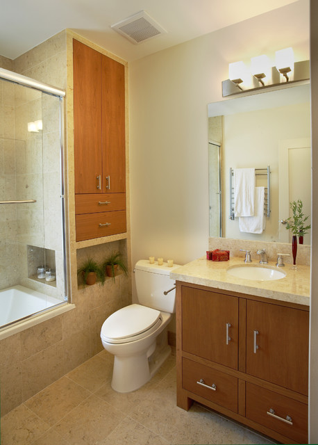 Tiburon home with asian influence contemporary bathroom for Small japanese bathroom design