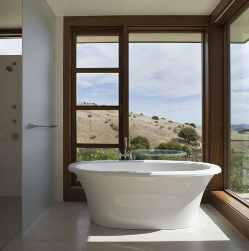 Tiburon Residence - with SF Bay view modern bathroom
