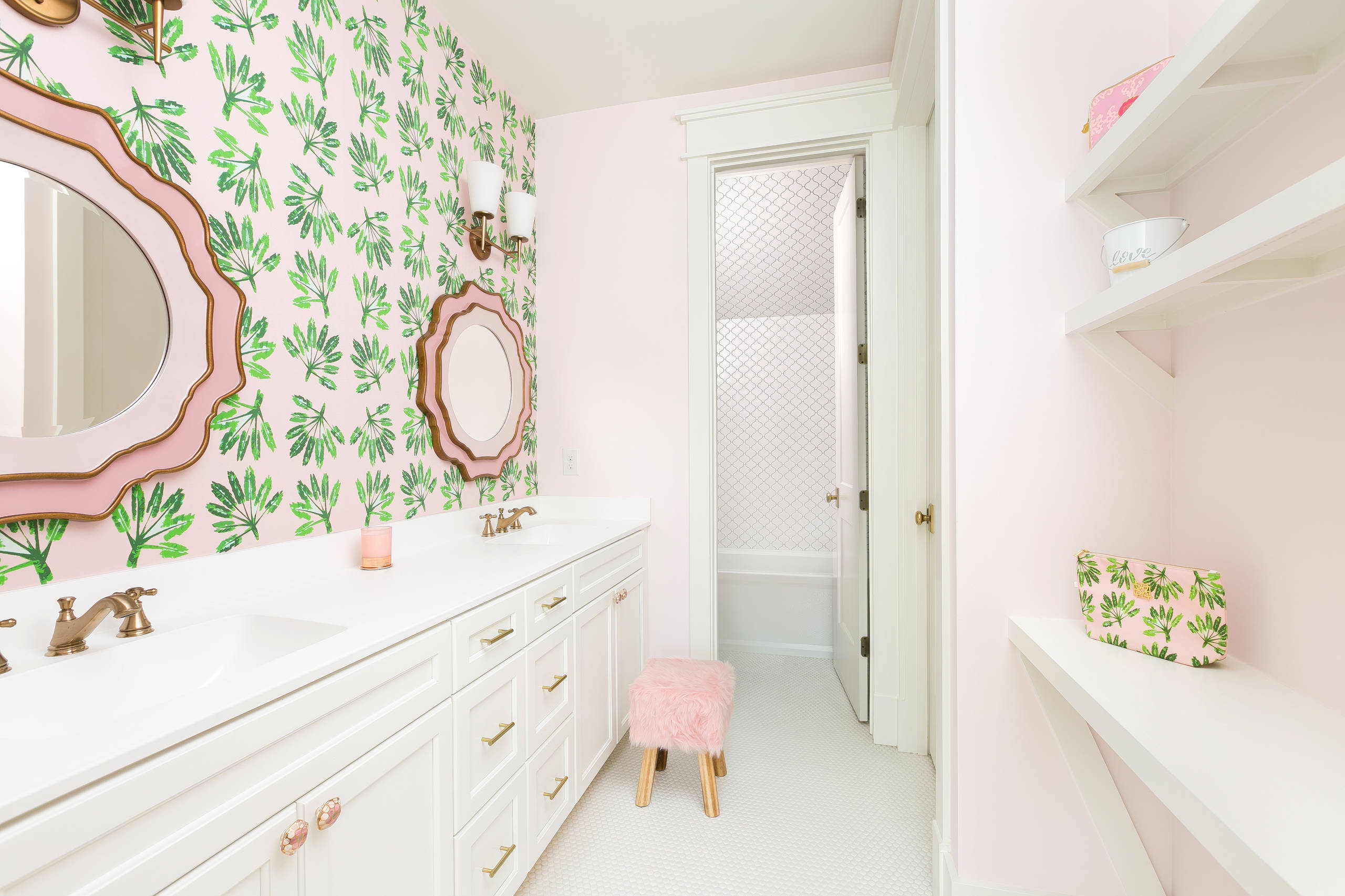 Pink And Gold Bathroom Ideas Houzz