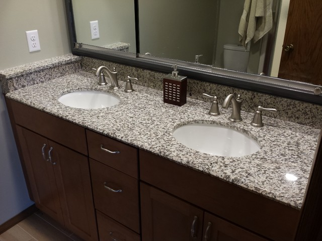 Tiger Skin Granite Countertops Modern Bathroom Cedar Rapids By Primotops Llc