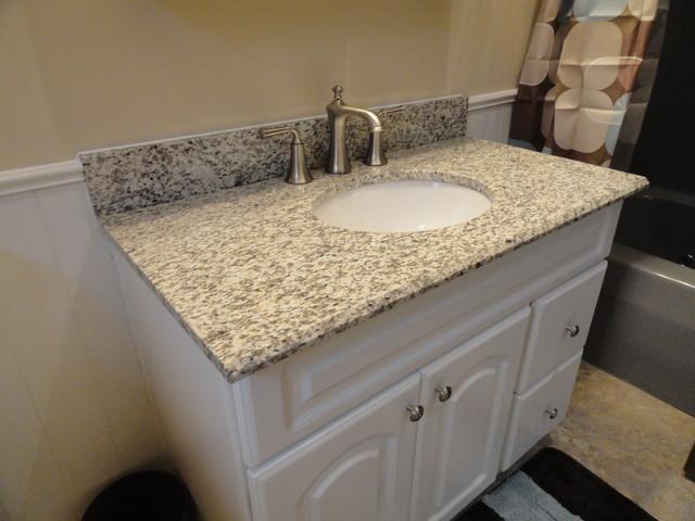 Tiger Skin Granite Vanity Countertops Traditional