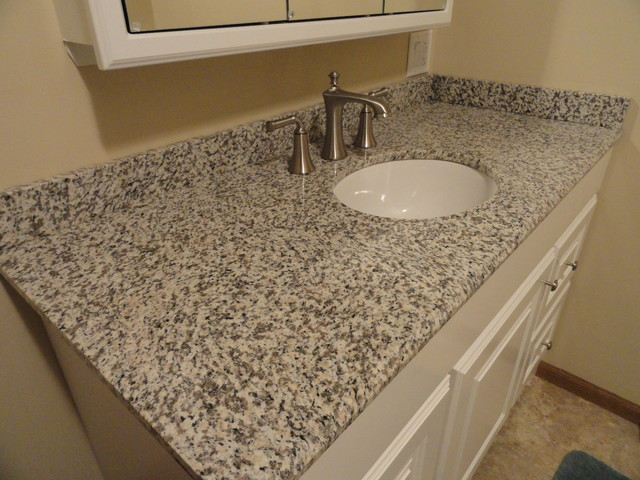 Tiger Skin Granite Vanity Countertops - Traditional - Bathroom - cedar ...