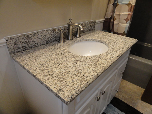 Tiger Skin Granite Vanity Countertops Traditional Bathroom