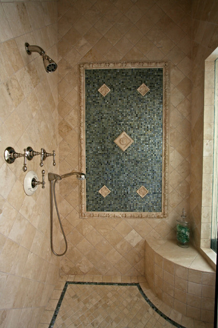 Tile Bathroom Shower Mediterranean San