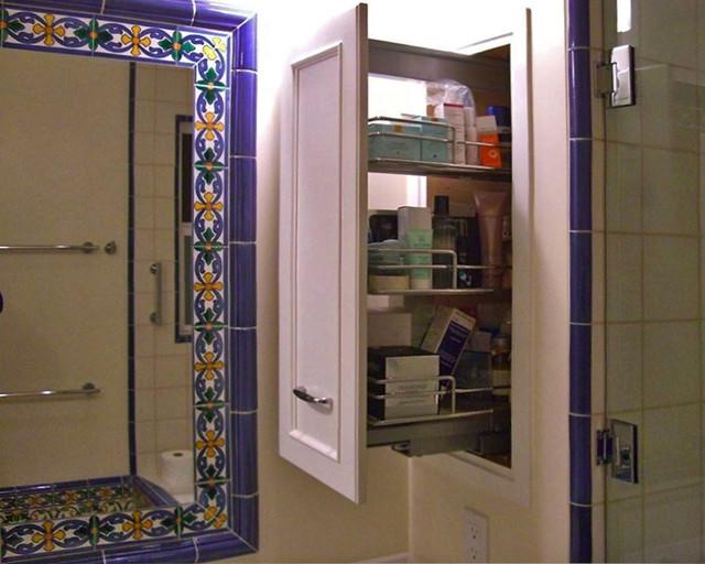 Tile Framed Mirror Mediterranean Bathroom Other By James. Bathroom Mirror Framed With Tile   Rukinet com