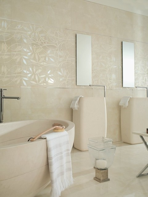 Tile for Porcelanosa bathroom designs