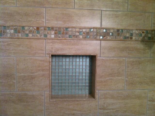 Tile in Shower traditional-bathroom