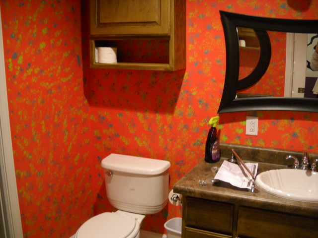 Tile, paint, trim, and design traditional-bathroom