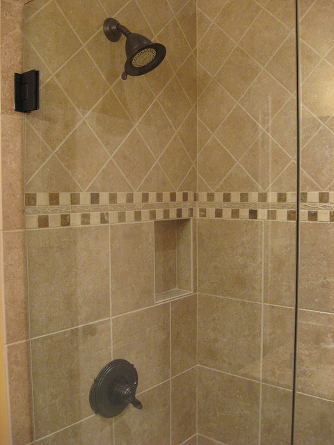 Tile   Shower Traditional Bathroom