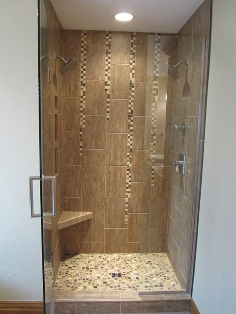 Tile shower with niche contemporary bathroom other metro by
