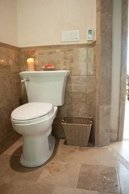 TIle ... Tile... Tile.... Bathroom Tile with Stone Tile Molding ...