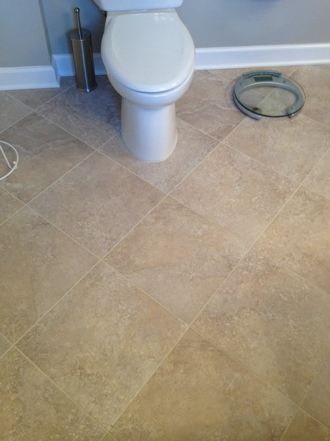 Tile vinyl and laminate contemporary bathroom for Laminate flooring bath