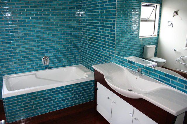 Tiled Bathroom Beach Style Bathroom Auckland By Middle Earth Tiles