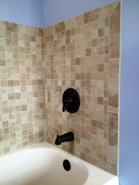 Tiled Tub Surround - Traditional - Bathroom - Cleveland - by ...
