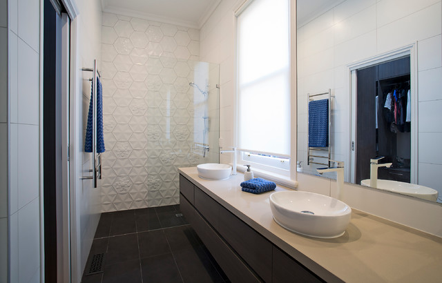 Tiles As Art Modern Bathroom Melbourne By Ultimate