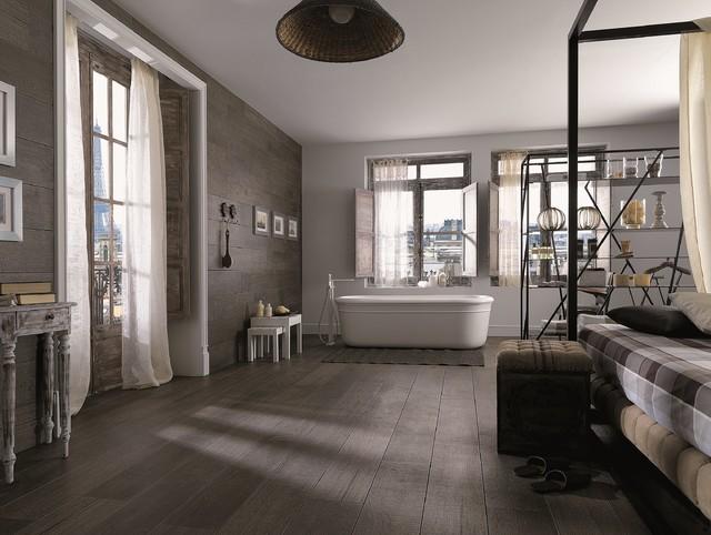 Bathroom Tiles Oxford timber look tiles - oxford antracita - contemporary - bathroom