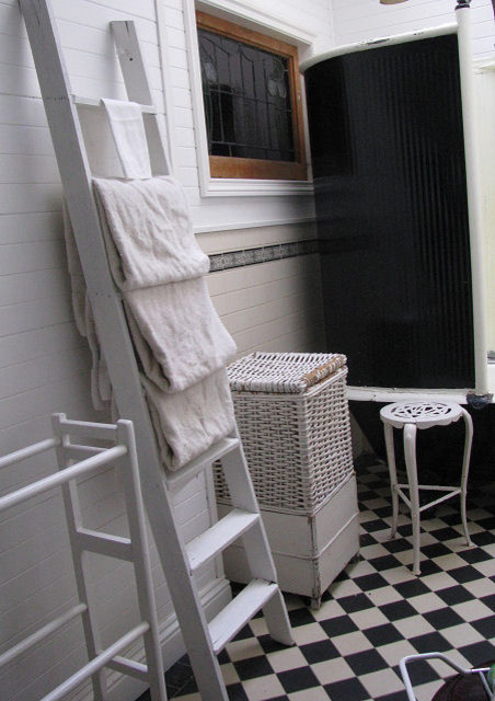 Time Worn Style ~ Black & White Bathroom traditional-bathroom