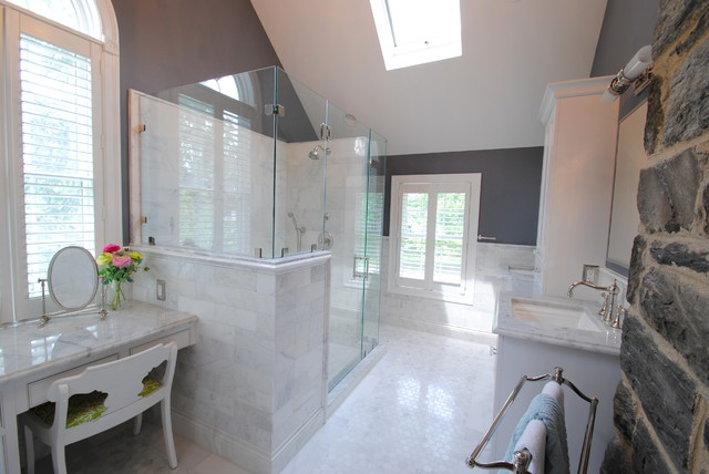 Timeless Master Bathroom Renovation Transitional