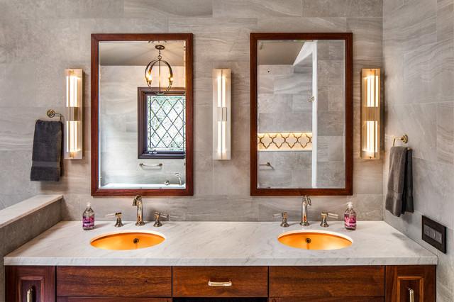 Timeless Tudor Master Vanity Traditional Bathroom