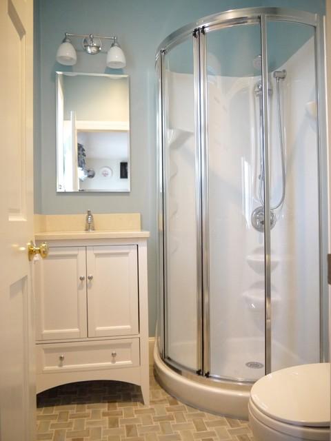 tiny full bath traditional bathroom