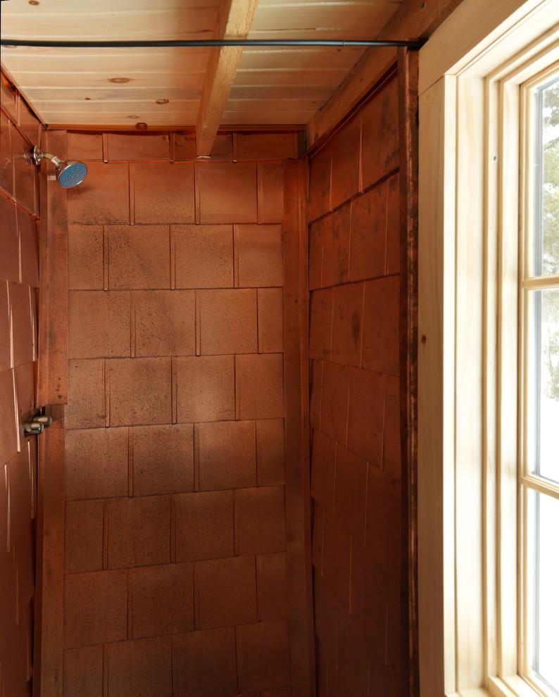 Bathroom - rustic bathroom idea in Burlington