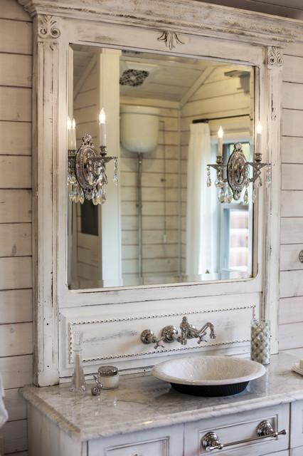 Mountain cabin shabby chic style bathroom charlotte for Bathroom interior design charlotte nc