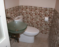 Tiny Powder Room remodel modern-bathroom