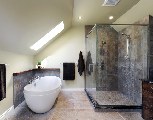 Attic Titanium Ensuite Contemporary Bathroom Ottawa