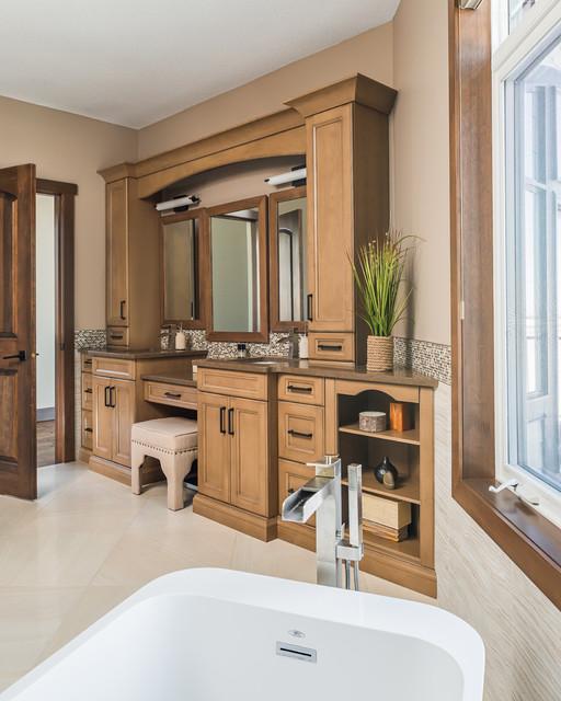Tofield farmhouse transitional bathroom edmonton for Interior design edmonton