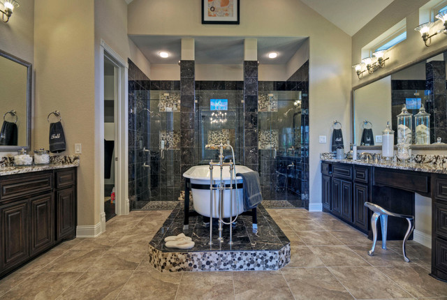 Toll Brothers Plano Tx Model Contemporary Bathroom Dallas By Modeldeco