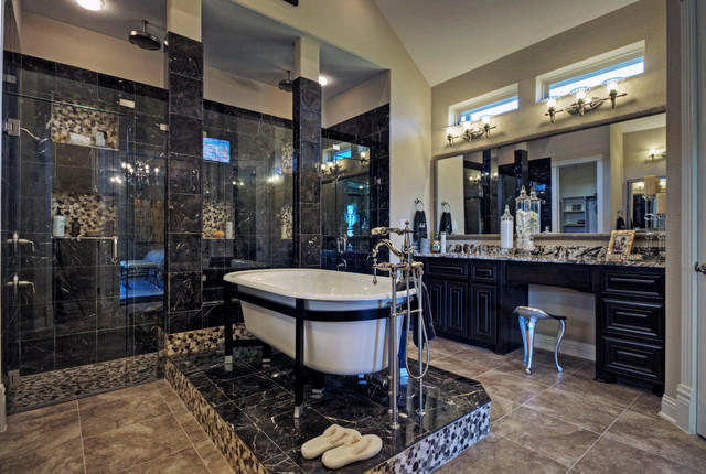 Exceptional Toll Brothers Plano, TX Model Contemporary Bathroom