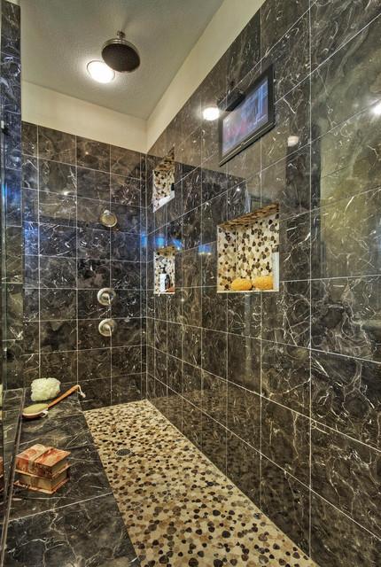 Brilliant Contemporary Master Bath Remodel  Plano TX  Contemporary  Bathroom
