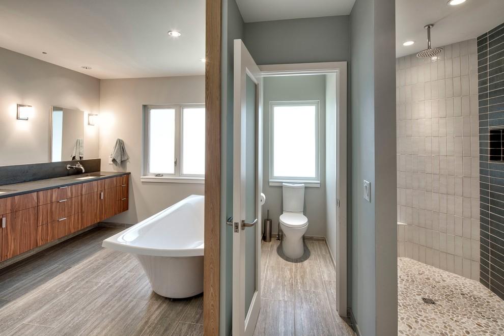 Tomahawk Road Remodel - Modern - Bathroom - Kansas City ...