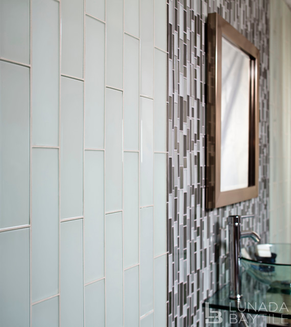 Tomei Glass Tile - Beach Style - Bathroom - other metro - by Lunada Bay Tile