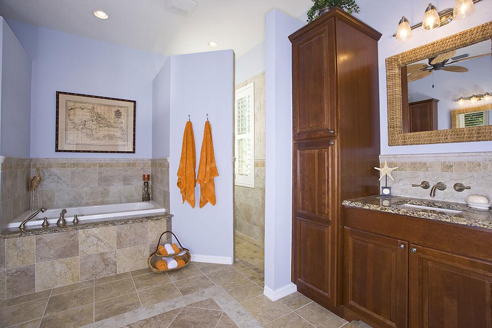 Bathroom - traditional bathroom idea in Tampa