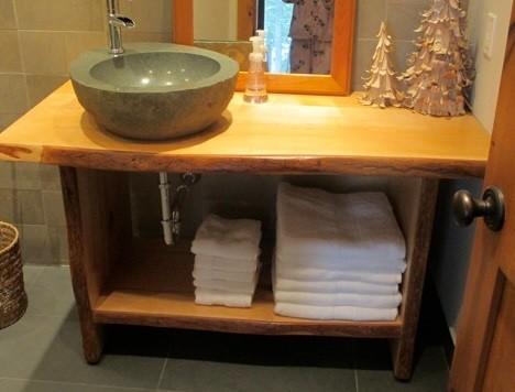 Toronto Live Edge Wood Slab Vanities Countertops Contemporary Bathroom Toronto By Tree Green Team Houzz