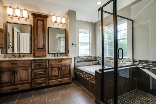 Total bathroom makeover traditional bathroom dallas for Total bathroom renovations