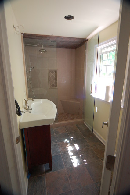 total fire restoration traditional bathroom