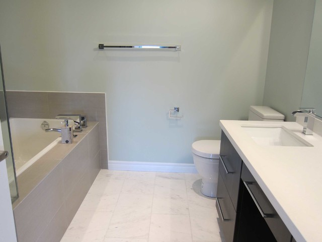 Totally Transformed Townhouse contemporary-bathroom