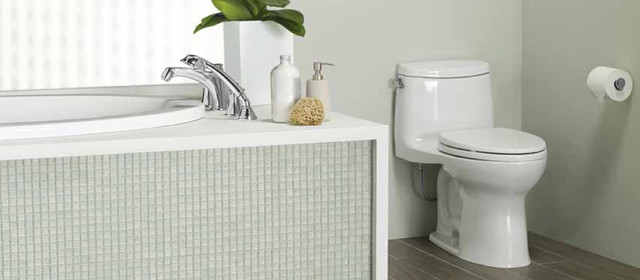 TOTO UltraMaxR II 1GTM One Piece Toilet MS604114CUFG Transitional Bathroom