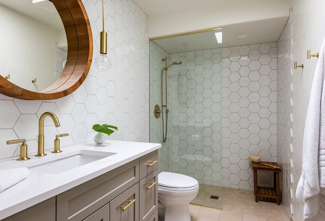 Touch of gold transitional bathroom other metro by for Landscape architects bath