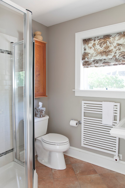 Towel Radiator Warms a Small Bathroom transitional bathroom. Towel Radiator Warms a Small Bathroom   Transitional   Bathroom