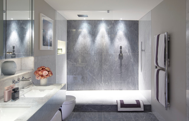 shower lighting. Townhouse Apartment, Belgravia Contemporary-bathroom Shower Lighting
