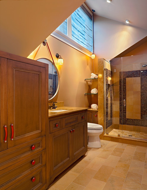 Townhouse contemporary-bathroom