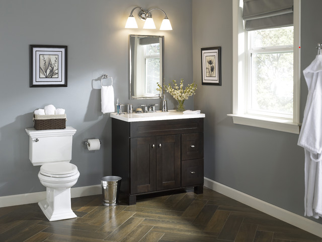 Traditional bath with an elegant vanity traditional for Bathroom ideas at lowes