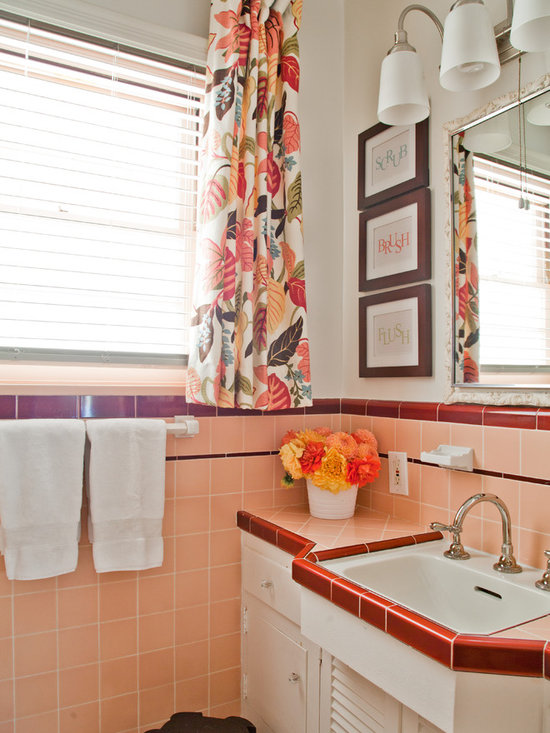 Peach tile floor home design ideas pictures remodel and for Peach tile bathroom ideas