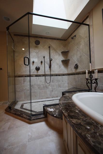 Glass Shower traditional-bathroom