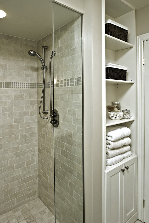 What Material Is The Shower Stall Ceiling?